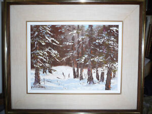 "Listed Artist,Heinz V. Pundleider ""Cross Country Trail"" Oil 1978 Stratford Kitchener Area image 1"
