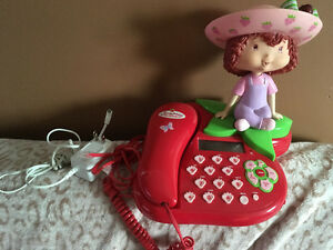 STRAWBERRY SHORTCAKE REAL WORKING HOUSE PHONE