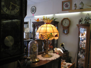 Lead Glass Shade Brass Kamp -- FROM PAST TIMES Antiques & Coll Regina Regina Area image 3
