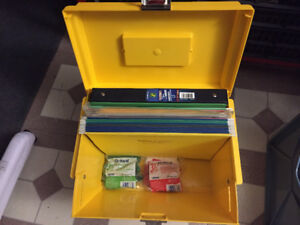 Yellow file box organizer