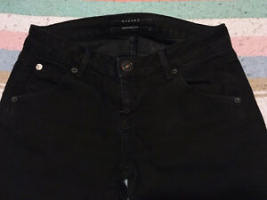 "HUDSON High Rise ""CARLY"" STRAIGHT LEG JEANS Black Ice, Size 26 London Ontario image 5"