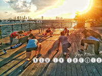 Group fitness by the water!