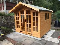 6x10 SUMMER HOUSE (HIGH QUALITY) £999.00 ANY SIZE (FREE DELIVERY AND INSTALLATION)