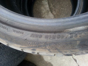 225 40 r 18 yokohoma tires   Set of 3 only Kitchener / Waterloo Kitchener Area image 2