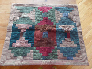 "Quilted cushion cover, 27"" x 23"", like new"
