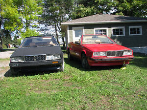 1987 Maserati Biturbo (includes 1986 parts car)