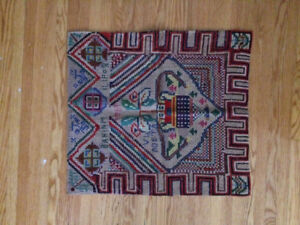 Vintage Collectible Hand Woven Tapestry Rug