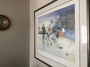 "Wayne Gretzky Limited edition print ""A Boy and His Dream"""
