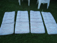 4 Patio Chair 2-side Waterproof Cushions(Plastic) in good condit