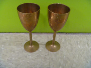 Pair Of Brass Goblets