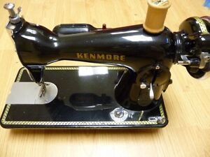 Antique kenmore sewing machine with electric conversation. DWS.