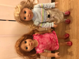 Madame Alexander dolls NY and 18 inch clothes (prices listed)