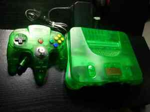 Atomic green, Funtastic,  Nintendo 64 with expansion pak. Mint.