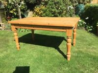 Fabulous Farmhouse Pine Kitchen / Dining Table.....5ft ....with drawers