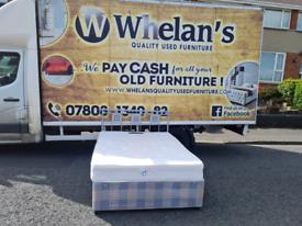 Double divan bed with metal headboard £95