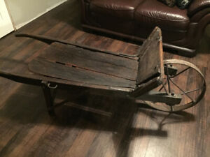 Authentic Antique Wheel Barrow Coffee Table For Sale!!!