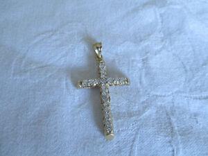 14 k Gold Diamond Studded Cross