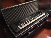 Korg TR76 76 keys workstation synth with flight case & sampling