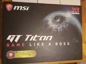 New MSI GTX1080 Titan 120hz Screen Mech Keyboard Laptop