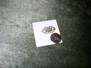 14 K Antique Pin with real pearls