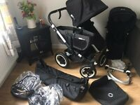 Bugaboo donkey v1.1 double stroller buggy pushchair carrycot twin