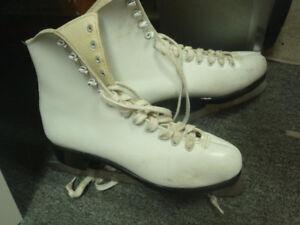 Figure Skates White Size 7