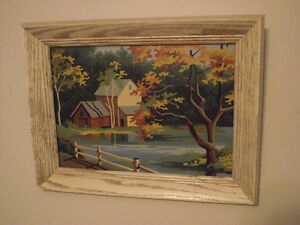 Vintage Paint-by-Number Mill Pond