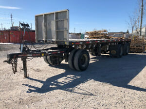 2004 - MANAC - 26' FLAT BED TRAILER FOR SALE