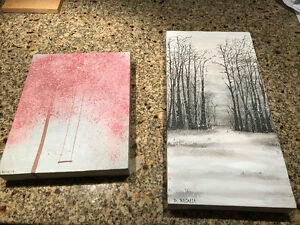 2 Acrylic on Stretched Canvas Paintings
