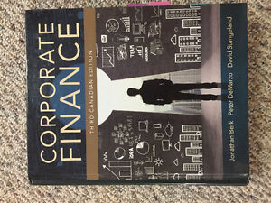 Corporate finance 3rd edition (third Canadian edition)