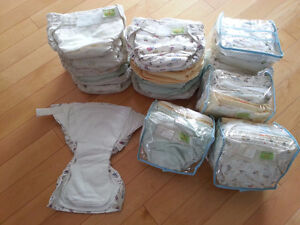 """Lot de couches lavables *KUSHIES Ultra-Lite """"All-In-O* et autres"""