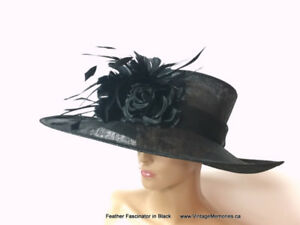Brand new feather hair fascinator hair clips On Sale
