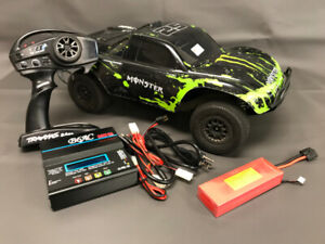 Brushless 1/10 Scale 4WD Slash Low-CG, LiPo battery, charger