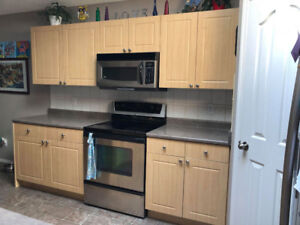 Kitchen Cabinets & Island For Sale