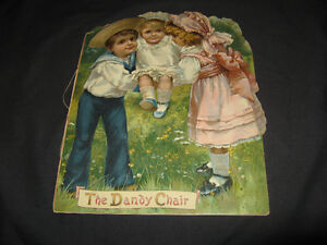 """Antique 1890 book """" The Dandy Chair"""" VINTAGE LITHOGRAPHY"""