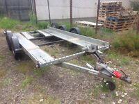 "Brian James A Series car trailer / transporter 14ft x 6ft 1"" £1250"