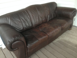 Natuzzi Leather Couch and Chair