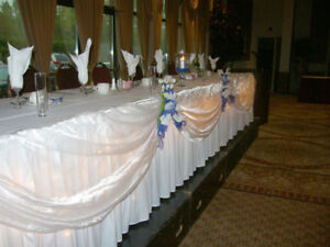 Wedding - Sheer fabric for a head table