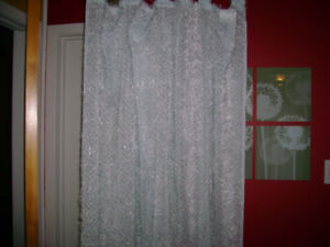 Brand new 5 fuzzy panels drapes/ sheers.