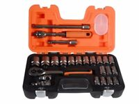 Bahco S240 Socket Set of 24 Metric 1/2in Drive Mechanics Gift Set Xmas stocking filler
