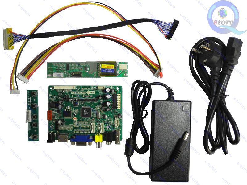 HDMI DVI VGA LCD LVDS Controller Board Work For N141I1-L03 N141I3-L02 N141L1-L02