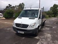 MERCEDES BENZ SPRINTER 313CDI FLATBED 5 METRE 2013 63 RECOVERY? 1 OWNER SCAFFOLD