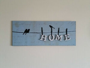 """MOVING SALE - """"Home"""" & """"Love"""" Matching Wall Decor"""