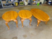 Coffee and end tables( Real wood,came from Sears)
