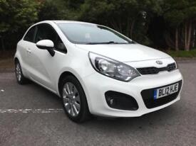 2012 KIA RIO 2 1.4 PETROL 3 DOOR HATCHBACK IN CLEAR WHITE ONLY 42,000 MILES