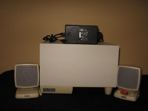 AMPLIFIED SPEAKER SYSTEM for MULTIMEDIA COMPUTER APPLICATIONS