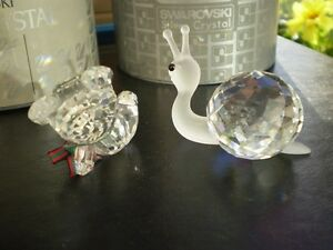 "Swarovski Crystal Figurines -"" Large Snail "" and "" Kris Bear "" Kitchener / Waterloo Kitchener Area image 4"