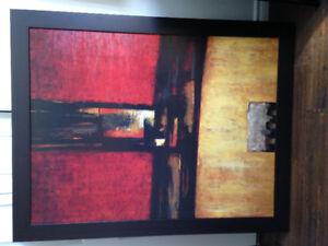 Cadre peinture tableau abstrait