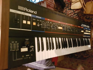 Roland Juno 60 Synthesizer with DCB to MIDI Interface Box