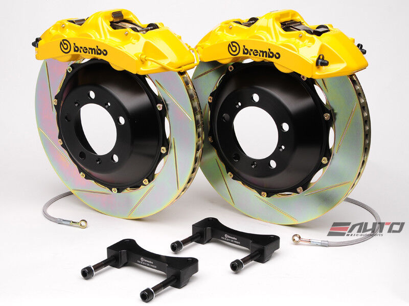 Brembo Front Gt Brake 6pot Yellow 365x34 Slot Disc Genesis Coupe 2.0t 3.8 09-13